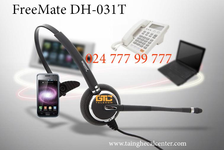 Tai nghe FreeMate DH-031T linh hoạt, dễ sử dụng, chống ồn tốt