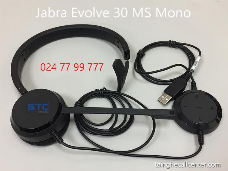 Tai nghe điện thoại Jabra Evolve 30 MS Mono chất lượng cao