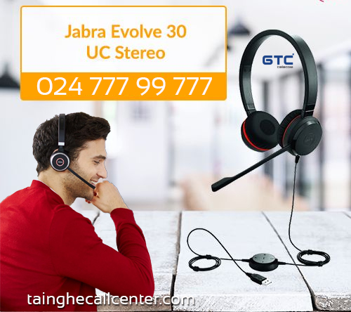 Tai nghe tổng đài Jabra Evolve 30 UC Stereo