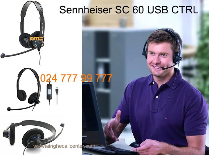 Sennheiser SC 60 USB CTRL tai nghe cho máy tính thân thiện nhất