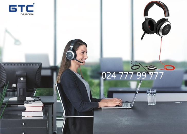 Tai nghe Jabra EVOLVE 80 MS Stereo  giải pháp tốt nhất cho các callcenter